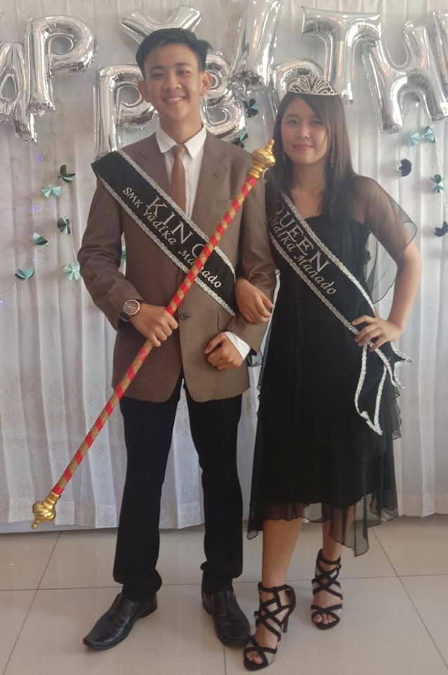 King and Queen SMK Yadika Manado.
